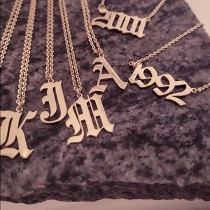 1992 Birth Year Gothic Font Necklace